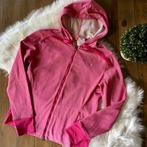 PUMA Zip Up Pink Hoodie Jacket Women's MED EUC
